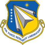Air Force Research Laboratory logo design in blue, silver, and yellow.
